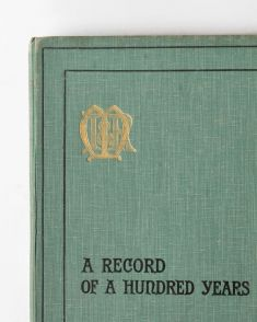 A record of a hundred years